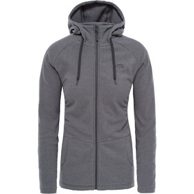 The North Face Mezzaluna Full Zip Hoodie Dame graphite grey stripe